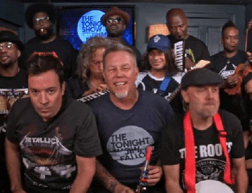 Metallica tocó uno de sus clásicos con instrumentos de juguete